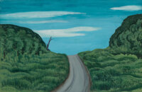 George Copeland Ault (American, 1891-1948) Road to Stony Clove, 1940 Gouache on paper 13 x 19-3/4 inches (33.0 x 50.2