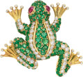 Estate Jewelry:Brooches - Pins, Diamond, Ruby, Emerald, Gold Brooch Stones: R...