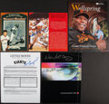 Autographs:Others, Willie McCovey & Masanori Murakami Single Signed Promotional Publications, Lot of 5....