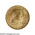 Commemorative Gold: , 1922 G$1 Grant no Star MS65 NGC. This pleasing Gem ...
