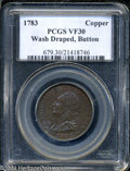 Colonials: , 1783 Washington & Independence Cent, Draped Bust, Button ...