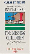 Autographs:Others, Dwight Clark Signed Charity Golf Tournament Display. ...