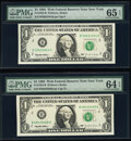 Fr. 1923-B $1 1995 Web Federal Reserve Notes. PMG Gem Uncirculated 65 EPQ; Choice Uncirculated 64 EPQ. ... (Total: 2 not...