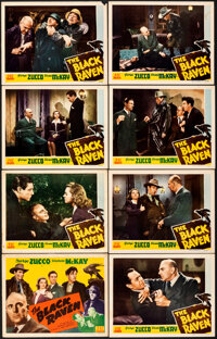 """The Black Raven (PRC, 1943). Fine/Very Fine. Lobby Card Set of 8 (11"""" X 14""""). Mystery. ... (Total: 8 Items)"""