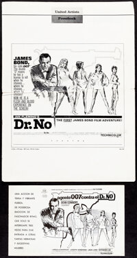 """Dr. No (United Artists, 1962). Folded, Very Fine-. Pressbook (12 Pages, 13"""" X 18"""") and Spanish Pressbook (12 P..."""