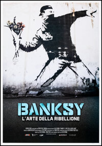 """Banksy and the Rise of Outlaw Art (Adler Entertainment, 2020). Rolled, Very Fine/Near Mint. Italian Foglio (27.75""""..."""