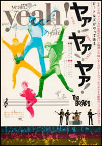 """A Hard Day's Night (United Artists, 1964). Very Fine+ on Linen. Japanese B2 (20.25"""" X 29""""). Rock and Roll"""