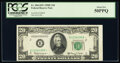 Small Size:Federal Reserve Notes, Fr. 2064-B* $20 1950E Federal Reserve Star Note. PCGS About New 50PPQ.. ...