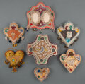 American Indian Art:Beadwork and Quillwork, Seven Iroquois Beaded Cloth Whimsies c. 1900