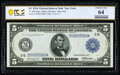 Fr. 848 $5 1914 Federal Reserve Note PCGS Banknote Choice Unc 64
