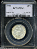 Seated Quarters: , 1882 MS62 PCGS. ...