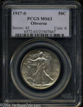 Walking Liberty Half Dollars: , 1917-S Obverse MS63 PCGS. The current Coin Dealer ...