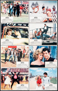 """Grease (Paramount, 1978). Very Fine+. Lobby Card Set of 8 (11"""" X 14""""). Musical. ... (Total: 8 Items)"""