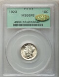 1923 10C MS66 Full Bands PCGS. Gold CAC. PCGS Population: (239/100). NGC Census: (108/34). CDN: $340 Whsle. Bid for NGC/...