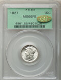 1927 10C MS66 Full Bands PCGS. Gold CAC. PCGS Population: (144/38). NGC Census: (32/5). CDN: $525 Whsle. Bid for NGC/PCG...