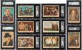 Non-Sport Cards:Sets, 1959 Fleer Three Stooges Complete Set (96) Plus Extras (67...