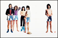 """Sticky Fingers by The Rolling Stones (Rolling Stones Records, 1971). Folded, Very Fine+. Record Poster (23"""" X 35&qu..."""