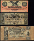 New Orleans, LA Remainders. Canal Bank $10 18__ Choice Crisp Uncirculated; Canal Bank $50 18__ Choice About ... (Total:...