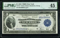 Error Notes:Large Size Errors, Obstruction Error Fr. 712 $1 1918 Federal Reserve Bank Note PMG Choice Extremely Fine 45.. ...