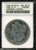 Morgan Dollars: , 1885-CC--Corroded, Cleaned--ANACS. Fine Details, Net VG8....