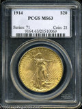 Saint-Gaudens Double Eagles: , 1914 MS63 PCGS. The current Coin Dealer Newsletter (...