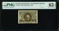 Fr. 1233 5¢ Second Issue PMG Choice Uncirculated 63 EPQ