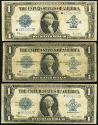 Fr. 237* $1 1923 Silver Certificate Stars Three Examples Very Good or Better. ... (Total: 3 notes)