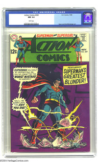 Action Comics #369 (DC, 1968) CGC NM 9.4 White pages. Art by Curt Swan and Kurt Schaffenberger. Overstreet 2003 NM 9.4 v...