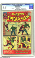 Silver Age (1956-1969):Superhero, Amazing Spider-Man #4 (Marvel, 1963) CGC VG/FN 5.0 Off-white to white pages. Steve Ditko art. First appearance of the Sandma...
