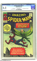 Silver Age (1956-1969):Superhero, Amazing Spider-Man #7 (Marvel, 1963) CGC FN+ 6.5 Off-white to white pages. Steve Ditko art. Overstreet 2003 FN 6.0 value = $...