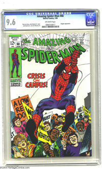 Amazing Spider-Man #68 (Marvel, 1969) CGC NM+ 9.6 Off-white pages. To date, only two copies of this issue have been assi...