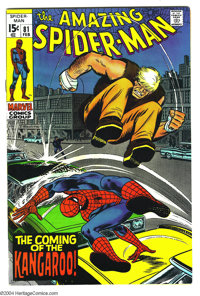 Amazing Spider-Man #81 (Marvel, 1970) Condition: NM-. G'day, mate! The Kangaroo hops in! Cover by John Romita Sr. Overst...