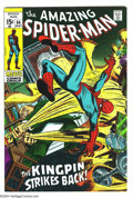 """Bronze Age (1970-1979):Superhero, Amazing Spider-Man #84 (Marvel, 1970) Condition: VF+. """"The Kingpin Strikes Back"""" -- and Spidey's in trouble! Overstreet 2003..."""