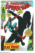 Bronze Age (1970-1979):Superhero, Amazing Spider-Man #86 (Marvel, 1970) Condition: VF+. Spidey tangles with Black Widow. Overstreet 2003 VF 8.0 value = $42; V...