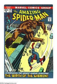 Amazing Spider-Man #110 (Marvel, 1972) Condition: VF/NM. First appearance of the Gibbon. Overstreet 2003 VF/NM 9.0 value...