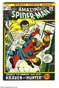 Amazing Spider-Man #111 (Marvel, 1972) Condition: NM-. Spidey vs. Kraven the Hunter and the Gibbon. Overstreet 2003 NM 9...