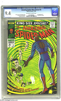 The Amazing Spider-Man Annual #5 (Marvel, 1968) CGC NM 9.4 Off-white to white pages. John Romita Sr. cover. First appear...