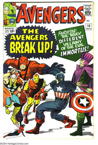 """The Avengers #10 (Marvel, 1964) Condition: VF+. """"The Avengers Break Up"""" is an outright lie, but what an exciti..."""