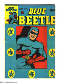 Blue Beetle #42 (Fox Features Syndicate, 1946) Condition: VG+. Overstreet 2003 VG 4.0 value = $50