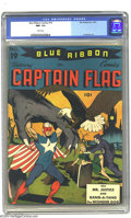 Golden Age (1938-1955):Superhero, Blue Ribbon #19 (MLJ, 1941) CGC NM- 9.2 White pages. A spectacular Captain Flag cover leads this later issue of Blue Ribbo...