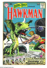 The Brave and the Bold #34 (DC, 1961) Condition: FN-. Origin and first appearance of the Silver Age Hawkman and Hawkgirl...