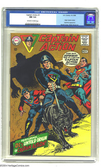 Captain Action #1 (DC, 1968) CGC NM 9.4 Off-white to white pages. Wally Wood art. Overstreet 2003 NM 9.4 value = $150...