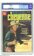 Silver Age (1956-1969):Western, Cheyenne #12 (Dell, 1959) CGC NM 9.4 Cream to off-white pages. Ty Hardin photo cover. Overstreet 2003 NM 9.4 value = $65....
