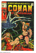 Bronze Age (1970-1979):Superhero, Conan the Barbarian #4 (Marvel, 1971) Condition: VF. Barry Windsor-Smith cover and art. Overstreet 2003 VF 8.0 value = $45....