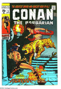 Bronze Age (1970-1979):Superhero, Conan the Barbarian #5 (Marvel, 1971) Condition: VF+. Barry Windsor-Smith cover and art. Overstreet 2003 VF 8.0 value = $45;...