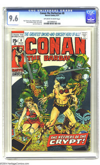 Conan the Barbarian #8 (Marvel, 1971) CGC NM+ 9.6 Off-white to white pages. Art by Barry Windsor Smith, Tom Sutton, and...