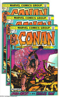 Bronze Age (1970-1979):Miscellaneous, Conan the Barbarian #19 Group (Marvel, 1972) Condition: VF. Fourcopies of #19. Overstreet 2003 value for group = $104.... (Total: 4Comic Books Item)