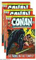 Bronze Age (1970-1979):Miscellaneous, Conan the Barbarian Group (Marvel, 1972) Condition: Average VF.Four copies of #18. Overstreet 2003 value for group = $68....(Total: 4 Comic Books Item)