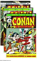 Bronze Age (1970-1979):Miscellaneous, Conan the Barbarian Group (Marvel, 1973-74) Condition: Average VF.This group includes #25, 29, 31-34, 36, 38-40, and 42. Ov...(Total: 11 Comic Books Item)