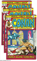 Bronze Age (1970-1979):Miscellaneous, Conan the Barbarian Group (Marvel, 1972) Condition: VF-. Threecopies of #20. Overstreet 2003 value for group = $78.... (Total: 3Comic Books Item)